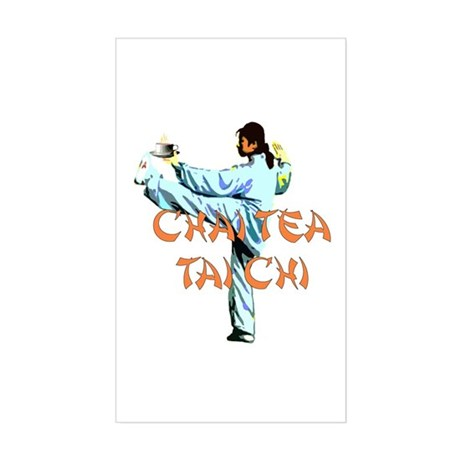 Chai Tea Tai Chi Sticker (Rectangle)