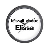 It's all about Elissa Wall Clock