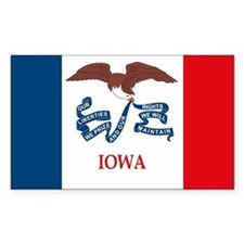 Iowa Flag Rectangle Decal