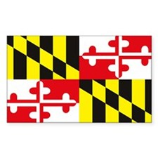 Maryland Flag Rectangle Decal