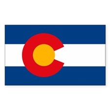 Colorado Flag Rectangle Decal