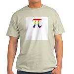 Rainbow Pi Symbol Ash Grey T-Shirt