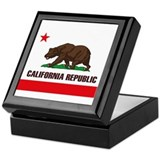 California Flag Keepsake Box