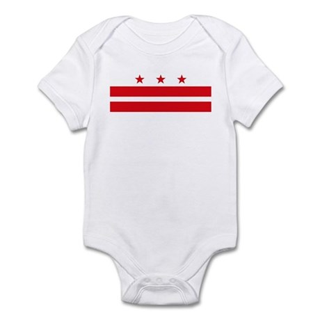 District of Columbia Flag Infant Creeper