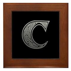 C Monogram Framed Tile