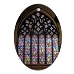 West Stained Glass Window Ornament (Oval)