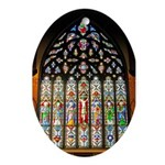 East Stained Glass Window Chr Ornament (Oval)
