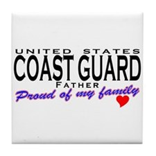 Proud Coast Guard Dad Tile Coaster