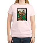 Magic Lands Design #2 Women's Pink T-Shirt