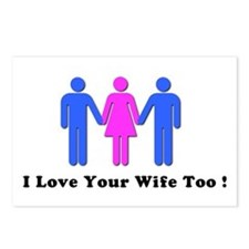 I Love Your Wife Too! Postcards (Package of 8)