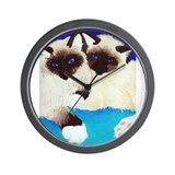 Birman Kittens Wall Clock