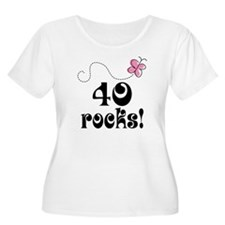 Cute 40 Rocks 40th Birthday T-Shirt