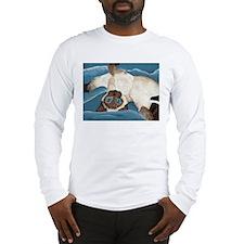 Siamese Kitten Long Sleeve T-Shirt