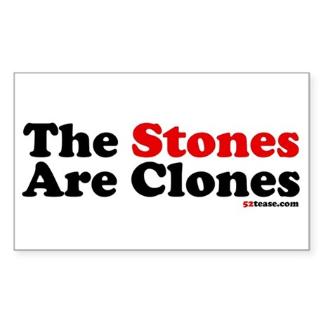 The Stones Are Clones Rectangle Sticker