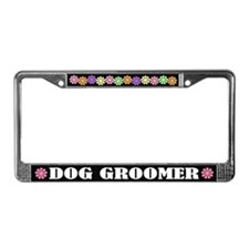 Dog Groomer License Plate Frame