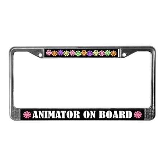 Animator on Board License Plate Frame