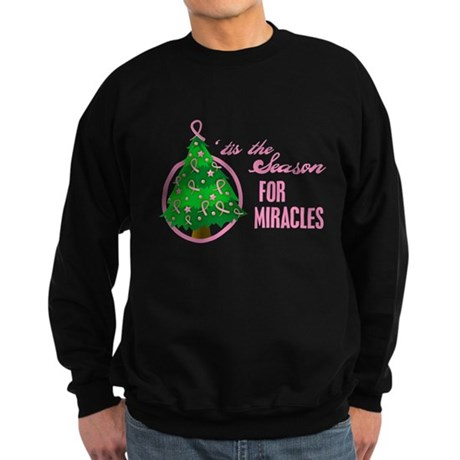 BreastCancer XmasMiracle Sweatshirt (dark)