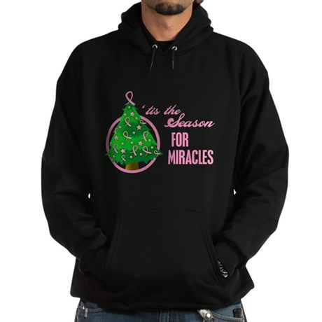 BreastCancer XmasMiracle Hoodie (dark)