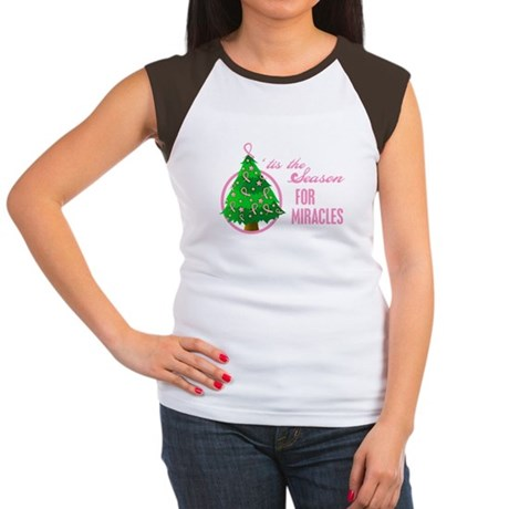 BreastCancer XmasMiracle Women's Cap Sleeve T-Shir