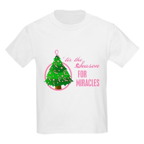 BreastCancer XmasMiracle Kids Light T-Shirt