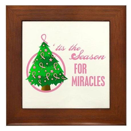 BreastCancer XmasMiracle Framed Tile