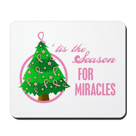 BreastCancer XmasMiracle Mousepad