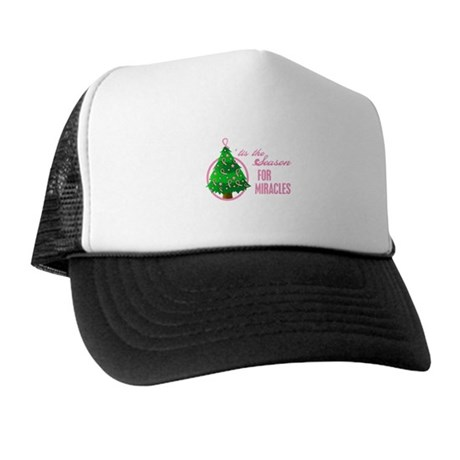 BreastCancer XmasMiracle Trucker Hat