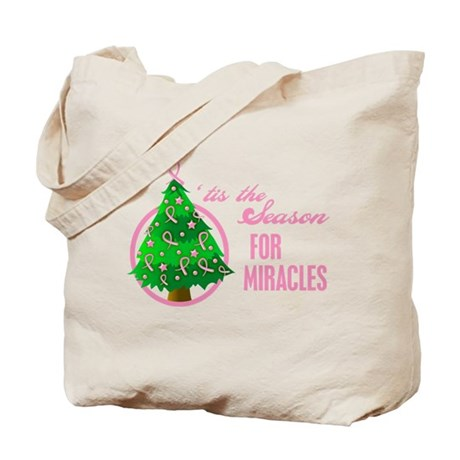 BreastCancer XmasMiracle Tote Bag
