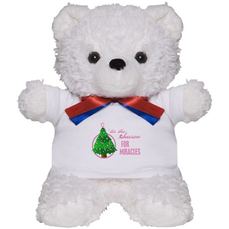 BreastCancer XmasMiracle Teddy Bear