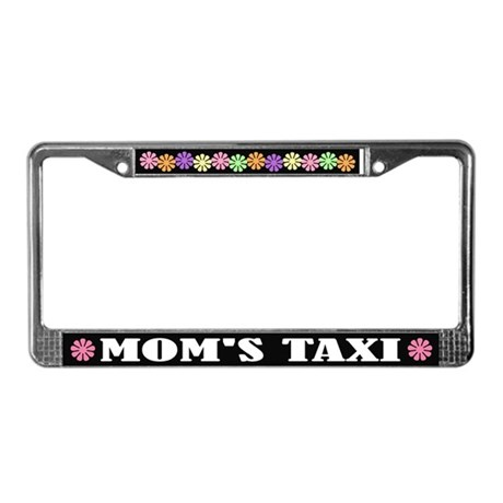 Mom's Taxi License Plate Frame