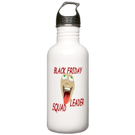 Black Friday Squad Leader Stainless Water Bottle 1