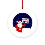 Santa for Obama 2012 Xmas Ornament