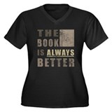 Book Humor Women's Plus Size V-Neck Dark T-Shirt