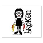 Broken Goth Doll Small Poster