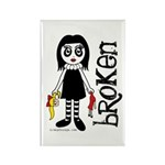 Broken Goth Doll Rectangle Magnet (10 pack)
