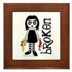 Broken Goth Doll Framed Tile