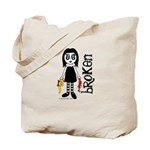 Broken Goth Doll Tote Bag