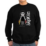 Broken Goth Doll Sweatshirt (dark)