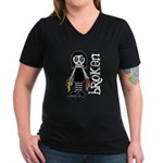 Broken Goth Doll Women's V-Neck Dark T-Shirt