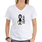Broken Goth Doll Women's V-Neck T-Shirt