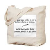 Fame and Fortune (Fanfic) Tote Bag