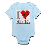 I Love (Heart) Cheney Bullet Hole Infant Creeper