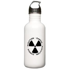 Radiation Symbol w/ Text Water Bottle