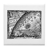 Flammarion Woodcut Tile Coaster