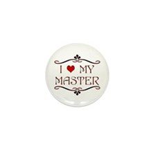 'I Love My Master' Mini Pinback Button (100 pack)