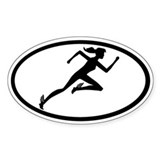 Mercury Girl Oval Decal