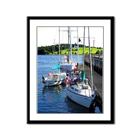 A Quiet Berth Framed Panel Print
