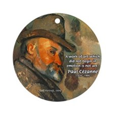 Cezanne Emotion Artistic Quote Ornament (Round)