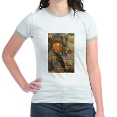 Cezanne Emotion Artistic Quote Jr. Ringer T-Shirt