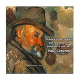 Cezanne Emotion Artistic Quote Tile Coaster